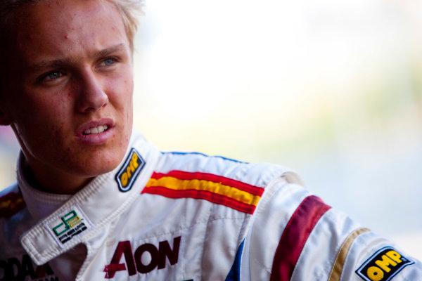 Jerez, Spain. Thursday 8th October. Max Chilton (GBR, Barwa Addax Team). Portrait.  World Copyright: Alastair Staley/ GP2 Series Media Service.Ref: _O9T7426 jpg