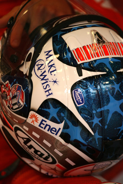 Indianapolis Grand Prix, Indianapolis, USA.28th - 30th August 2009.Nicky Haydens helmet special paint detail.World Copyright: Martin Heath/LAT Photographic ref: Digital Image SE5K4393