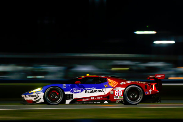 2017 Rolex 24 Hours. Daytona, Florida, USA. Saturday 28 January 2017. 69, Ford, Ford GT, GTLM, Andy Priaulx, Harry Tincknell, Tony Kanaan World Copyright: Jake Galstad/LAT Images