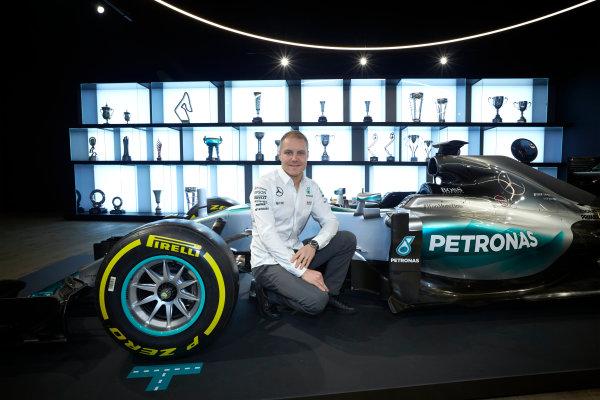 Mercedes F1 Driver Announcement Mercedes AMG Factory, Brackley, UK Monday 16 January 2017 Valtteri Bottas is announced as the new Mercedes AMG F1 driver for 2017. World Copyright: Steve Etherington/LAT Photographic ref: Digital Image SNE11799