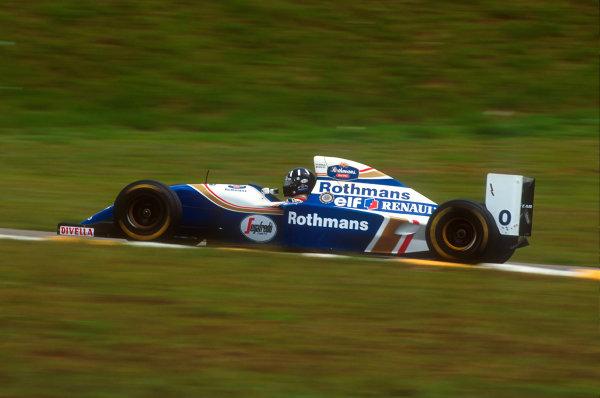 Interlagos, Sao Paulo, Brazil.25-27 March 1994.Damon Hill (Williams FW16 Renault) 2nd position.Ref-94 BRA 07.World Copyright - LAT Photographic