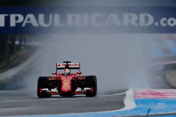 Paul Ricard, France. Tuesday 26 January 2016. Sebastian Vettel, Ferrari SF15-T. World Copyright: Steven Tee/LAT Photographic ref: Digital Image _L4R6175