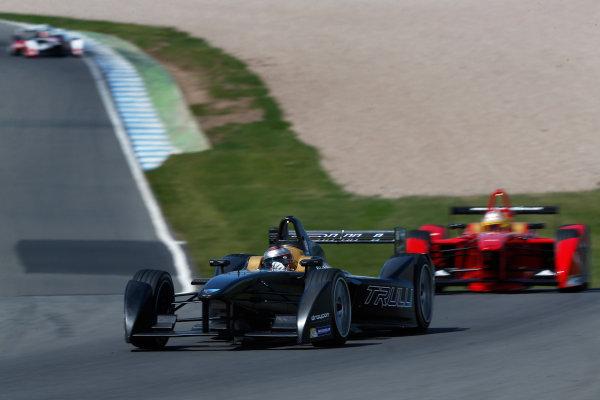 FIA Formula E Test Day, Donington Park, UK.  9th - 10th July 2014.  Jarno Trulli, Trulli GP. Photo: Sam Bloxham/FIA Formula E ref: Digital Image _SBL1392