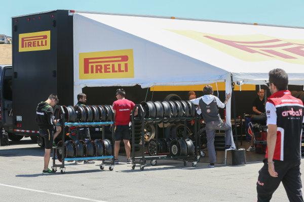 2017 Superbike World Championship - Round 8 Laguna Seca, USA. Friday 7 July 2017 Pirelli tyres World Copyright: Gold and Goose/LAT Images ref: Digital Image 682925