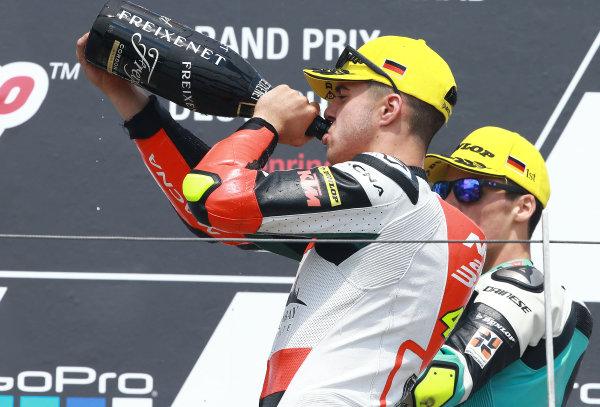 2017 Moto3 Championship  - Round 9 Sachsenring, Germany Sunday 2 July 2017 Podium: third place Marcos Ramírez, Platinum Bay Real Estate World Copyright: David Goldman/LAT Images ref: Digital Image 34017