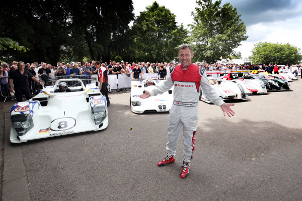 2017 Goodwood Festival of Speed. Goodwood Estate, West Sussex, England. 30th June - 2nd July 2017. Tom Kristensen (DEN) and the cars he has driven at Le Mans World Copyright : JEP/LAT Images