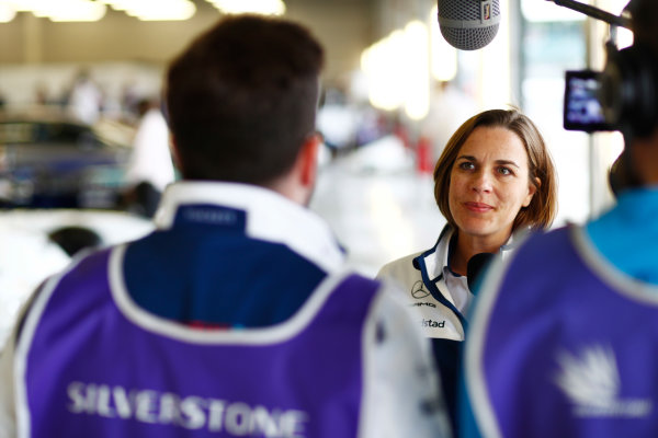 Williams 40 Event Silverstone, Northants, UK Friday 2 June 2017. Claire Williams is interviewed by the media. World Copyright: Sam Bloxham/LAT Images ref: Digital Image _J6I7168
