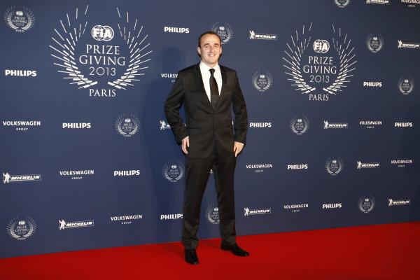 2013 FIA Gala Dinner and Awards. Paris, France. Friday 6th December 2013. Robert Kubica on the red carpet. World Copyright & Mandatory Credit: FIA. ref: Digital Image 11242085505_2720ec2189_o