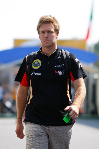 Autodromo Nazionale di Monza, Monza, Italy. 5th September 2013. Davide Valsecchi, Third Driver, Lotus F1. World Copyright: Sam Bloxham/LAT Photographic. ref: Digital Image _LOX0208