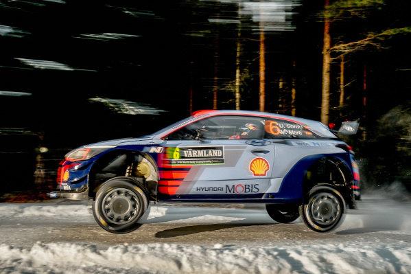Dani Sordo (ESP) / Marc Marti (ESP), Hyundai Motorsport i20 Coupe WRC at World Rally Championship, Rd2, Rally Sweden, Preparations and Shakedown, Karlstad, Sweden, 9 February 2017.