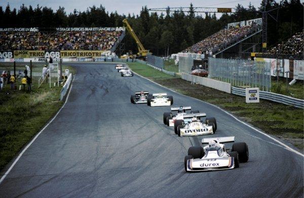 Alan Jones (AUS) Surtees TS19 finished thirteenth.Swedish Grand Prix, Rd7, Anderstorp, 13 June 1976.BEST IMAGE
