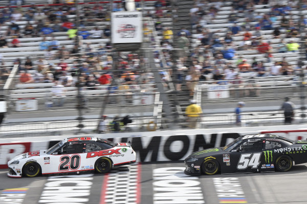 #20: Harrison Burton, Joe Gibbs Racing, Toyota Supra DEX Imaging, #54: Ty Gibbs, Joe Gibbs Racing, Toyota Supra Joe Gibbs Racing