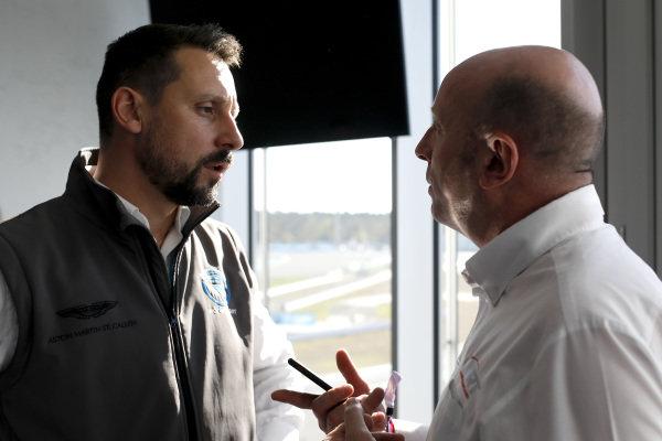 Dr. Florian Kamelger, Founder and owner AF Racing AG and Team principal R-Motorsport, Vincent Vosse, Team principal Audi Sport Team WRT.