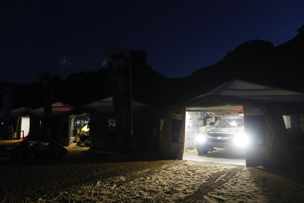 The Hispano Suiza Xite Energy Team service area at night
