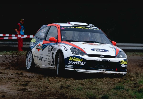 2002 World Rally Championship.ADAC Rallye Deutschland, Trier, Germany. August 22nd - 25th 2002.Colin McRae/Nicky Grist (Ford Focus WRC 02), action.Photo: McKlein/LAT Photographicref: 35mm Image A17