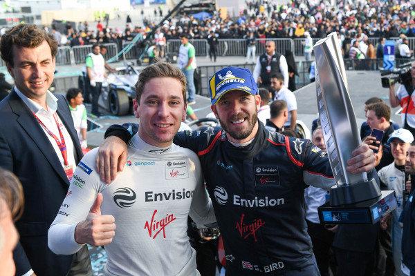 Robin Frijns (NLD), Envision Virgin Racing and Sam Bird (GBR), Envision Virgin Racing, 1st position
