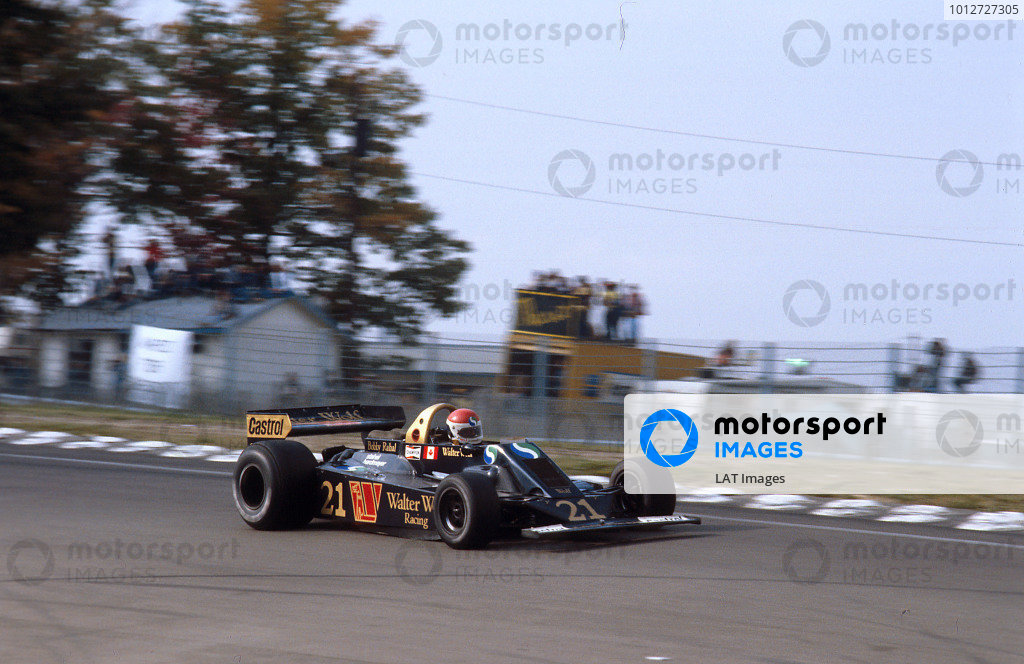 1978 United States Grand Prix East.Watkins Glen, New York, USA.28/9-1/10 1978.Bobby Rahal (Wolf WR5 Ford) 12th position on his Grand rix debut. Ref-78 USA 13.World Copyright - LAT Photographic