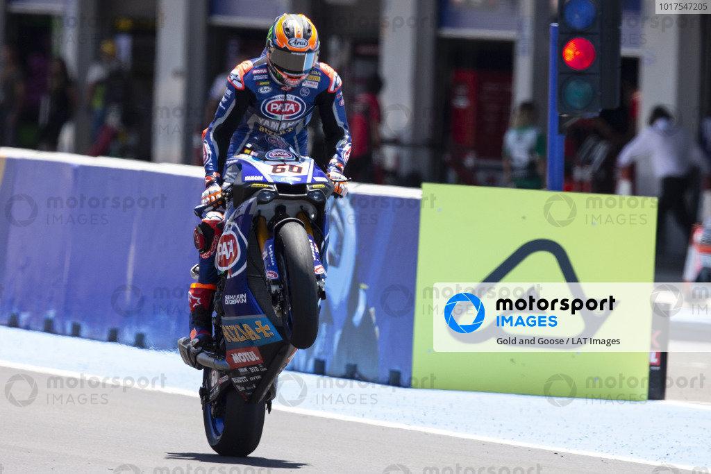 Race winner Michael van der Mark, Pata Yamaha