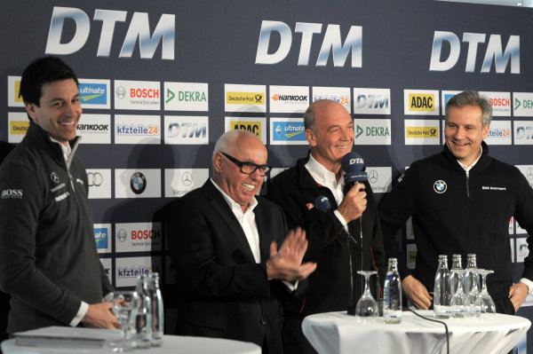 Hockenheim, Germany 9th April 2013 Torger Christian ?Toto? Wolff (AUT); Sporting Director Mercedes-Benz; Hans Werner Aufrecht (GER); Chairman of DTM; Dr. Wolfgang Ullrich (GER); Head of Audi Sport; Jens Marquardt (GER); Head of BMW Motorsport World Copyright: xpb Images/LAT Photographic ref: Digital Image 2579097_HiRes
