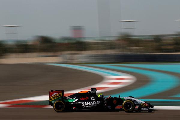 Yas Marina Circuit, Abu Dhabi, United Arab Emirates. Wednesday 26 November 2014. Spike Goddard, Force India VJM07 Mercedes.  World Copyright: Sam Bloxham/LAT Photographic. ref: Digital Image _G7C9460