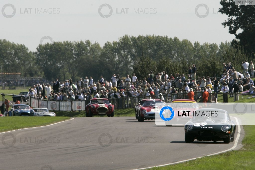 2007 Goodwood Revival Meeting.  Goodwood, West Sussex. 1st - 2nd September 2007.  RAC TT Celebration Race.  Michael Vergers leads the field at Lavant Corner. World Copyright: Gary Hawkins/LAT Photographic  ref: Digital Image Only