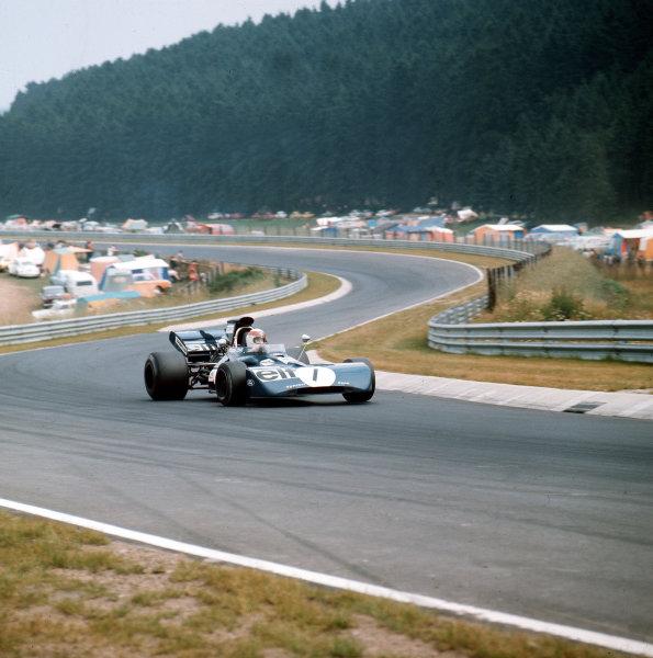 Nurburgring, Germany.28-30 July 1972.Jackie Stewart (Tyrrell 003 Ford).Ref-3/5126B.World Copyright - LAT Photographic