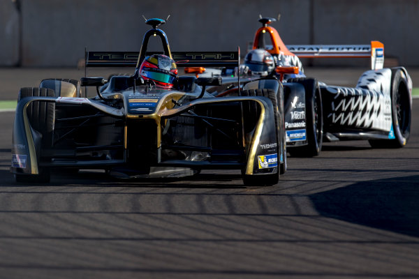 2016/2017 FIA Formula E Championship. Marrakesh ePrix, Circuit International Automobile Moulay El Hassan, Marrakesh, Morocco. Friday 11 November 2016. Jean-Eric Vergne (FRA), Techeetah, Spark-Renault, Renault Z.E 16.  Photo: Zak Mauger/LAT/Formula E ref: Digital Image _L0U6101