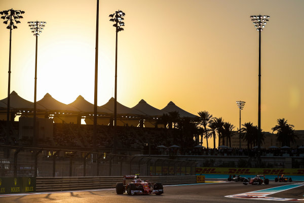 Yas Marina Circuit, Abu Dhabi, United Arab Emirates. Sunday 27 November 2016. Kimi Raikkonen, Ferrari SF16-H. World Copyright: Dunbar/LAT Photographic ref: Digital Image _X4I4616