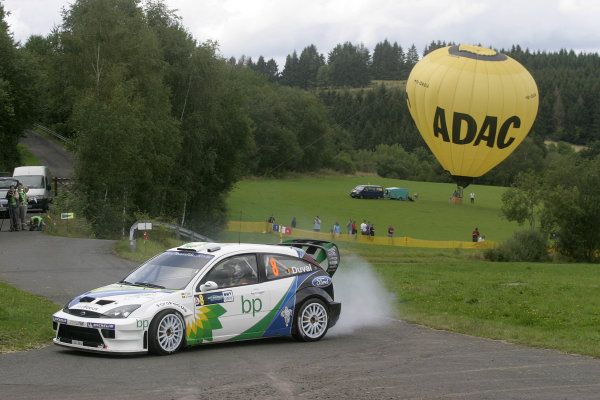 2004 FIA World Rally Champs. Round ten, OMV Deutschland Rally.19th - 22nd August 2004.Francois Duval, Ford, action.World Copyright: McKlein/LAT