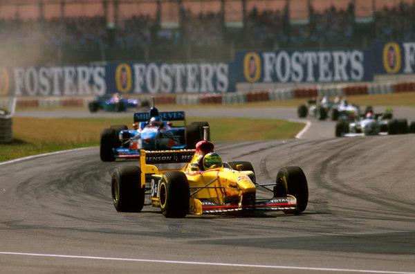 Buenos Aires, Argentina.11-13 APRIL 1997.Ralf Schumacher (Jordan 197 Peugeot) 3rd position at the Curva de la Confiteria.Ref-97 ARG 05.World Copyright - LAT Photographic