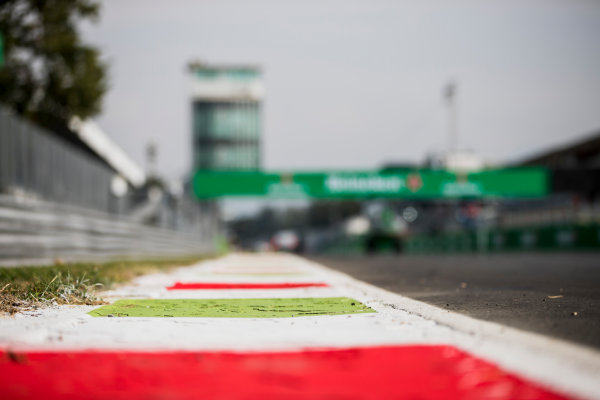 2017 FIA Formula 2 Round 9. Autodromo Nazionale di Monza, Monza, Italy. Thursday 31 August 2017. Kerbs. Photo: Zak Mauger/FIA Formula 2. ref: Digital Image _54I4864