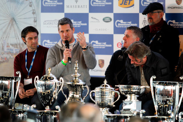 2017 Silverstone Classic Media Day. Silverstone, Northamptonshire. 23rd May 2017. Ant Anstead in the Silverstone Classic press conference. World Copyright: JEP/LAT Images.