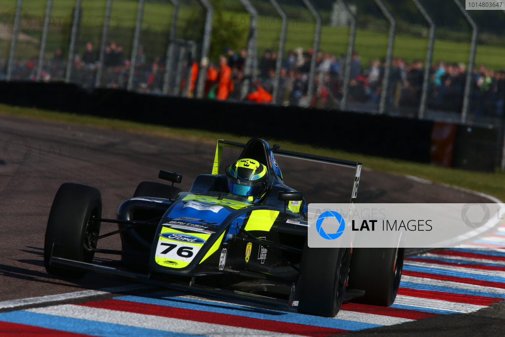 2017 British F4 Championship, Thruxton, 6th-7th May 2017,  Linus Lundqvist (SWE) Double R Racing British F4 World copyright. JEP/LAT Images