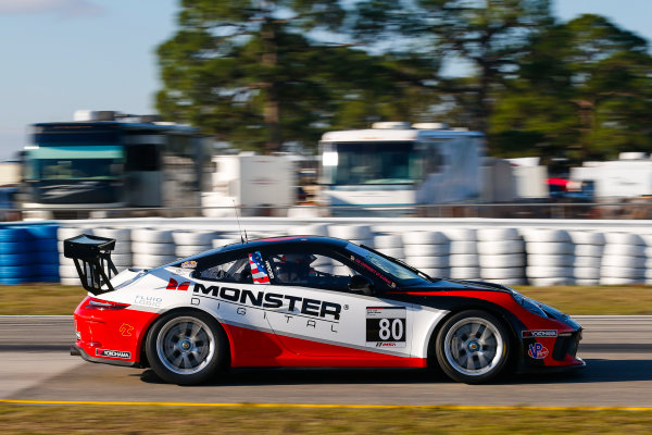 2017 Porsche GT3 Cup USA Sebring International Raceway, Sebring, FL USA Wednesday 15 March 2017 80, Tom Haacker, GT3P, USA, M, 2017 Porsche 991 World Copyright: Jake Galstad/LAT Images ref: Digital Image lat-galstad-SIR-0317-14863