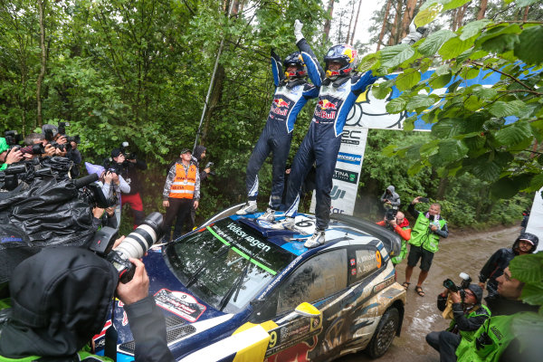2016 FIA World Rally Championship, Round 07, Rally Poland,  June 30 - July 03, 2016 Andreas Mikkelsen, Volkswagen, finish Worldwide Copyright: McKlein/LAT