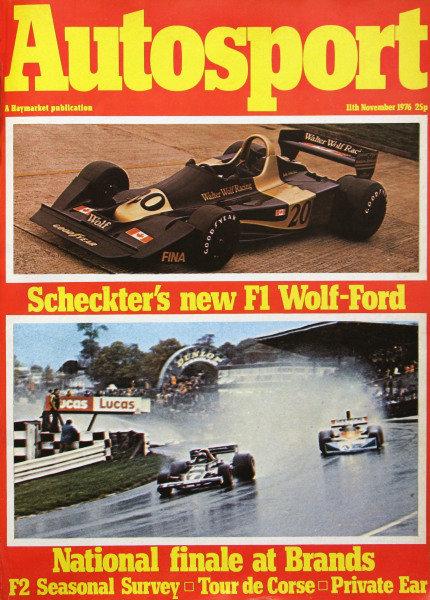 Cover of Autosport magazine, 11th November 1976