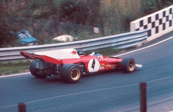 1972 German Grand Prix.Nurburgring, Germany.28-30 July 1972.Jacky Ickx (Ferrari 312B2) 1st position.Ref-72 GER 17.World Copyright - LAT Photographic