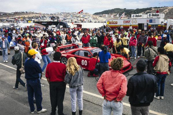 Jean Alesi, Ferrari France, Ferrari F40, on the grid.