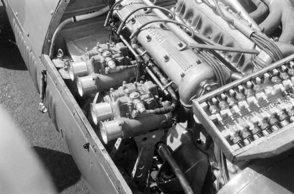 The engine in a Ferrari 500.