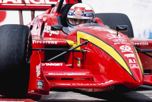 1998 Fedex Championship Series.Long Beach, California, USA.4-5 April 1998. Alessandro Zanardi (Chip Ganassi Racing/Reynard 98i Honda) 1st position.World Copyright - Steven Tee/LAT Photographic