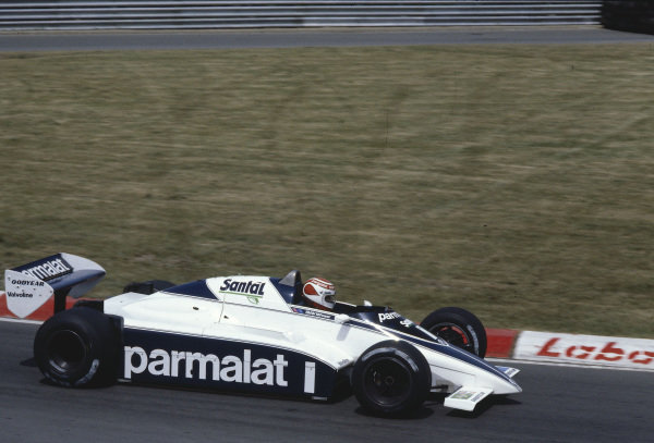 1982 Canadian Grand Prix.Montreal, Quebec, Canada.11-13 June 1982.Nelson Piquet (Brabham BT50 BMW) 1st position.Ref-82 CAN 25.World Copyright - LAT Photographic