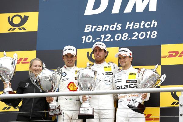 Podium: Race winner Daniel Juncadella, Mercedes-AMG Team HWA, second place Augusto Farfus, BMW Team RMG, third place Lucas Auer, Mercedes-AMG Team HWA.