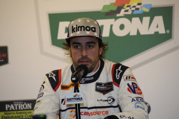 Fernando Alonso (ESP) United Autosports at Daytona 24 Hours Practice and Qualifying, Daytona International Speedway, Daytona, USA, 24-26 January 2018.