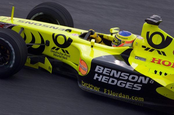 2001 Malaysian Grand Prix.Sepang, Kuala Lumpur, Malaysia. 16-18 March 2001.Jarno Trulli (Jordan EJ11 Honda) 8th position.World Copyright - Steve Etherington/LAT Photographic.ref: 18mb Digital Image