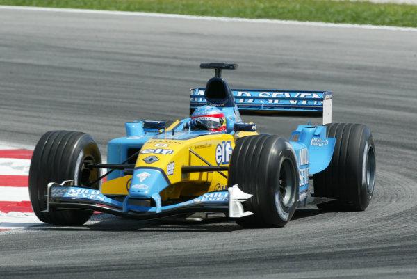 2003 Malaysian Grand Prix. Sepang, Kuala Lumpur, Malaysia.21-23 March 2003.Fernando Alonso (Renault R23) 3rd position.World Copyright - LAT Photographic ref: Digital Image Only