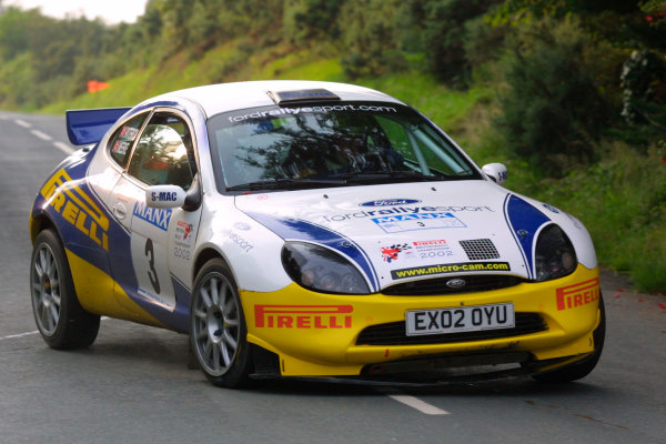 2002 British Rally Championship.Manx International Rally. Douglas, Isle of Man.1-3 August 2002.Kris Meeke/Glenn Patterson (Ford Puma) .Ref-02 MIR 58.World Copyright - Malcolm Griffiths/LAT Photographic