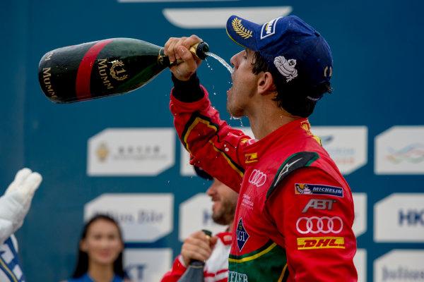 2016/2017 FIA Formula E Championship. Hong Kong ePrix, Hong Kong, China. Sunday 9 October 2016. Lucas Di Grassi (BRA), ABT Schaeffler Audi Sport, Spark-Abt Sportsline, ABT Schaeffler FE02.  Photo: Zak Mauger/LAT/Formula E ref: Digital Image _X0W3016