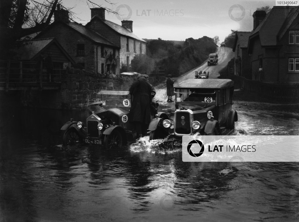 Watersplash at Beulah.RAC Small Car Trials 1924.