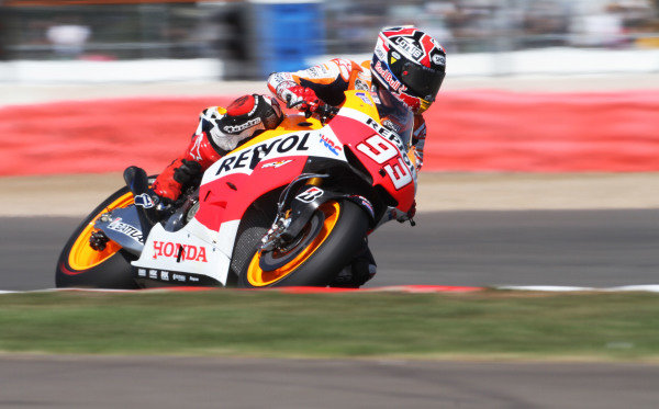 British Grand Prix.  Silverstone, England. 30th August - 1st September 2013.  Marc Marquez, Honda.  Ref: IMG_1109a. World copyright: Kevin Wood/LAT Photographic