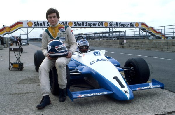 Jonathan Palmer (GBR), Ralt-Honda, left.European Formula Two Championship, Silverstone, England. 1983.